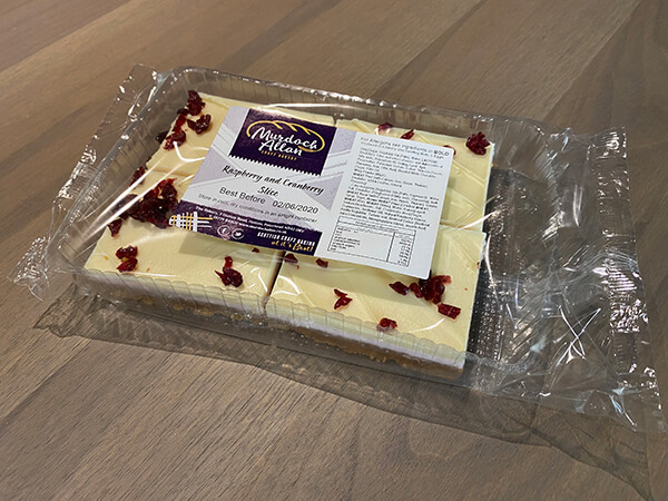 Raspberry & Cranberry Slice - Pack of 4